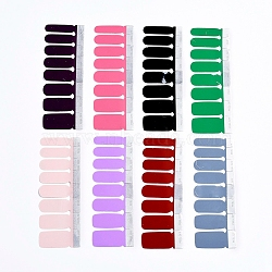 Full Cover Nail Art Stickers, Self-adhesive, for Nail Tips Decorations, Mixed Color, 10.9x3.9cm, 8pcs/set(MRMJ-X0029-06)