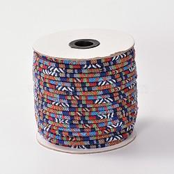tissu de corde cordes ethniques, bleu, 6 mm; environ 50 verges / rouleau (150 pieds / rouleau)(OCOR-F003-6mm-07)