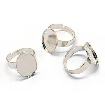 Silver Iron Ring Components