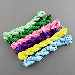 Nylon Thread For Jewelry Making, Mixed Color, 1mm; about 250m/bag(NWIR-R009-1mm)