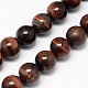 Natural Red Tiger Eye Stone Bead Strands(G-R193-08-10mm)-1