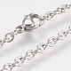 304 Stainless Steel Cable Chain Bracelets(BJEW-F298-01P)-2