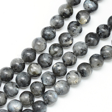 Natural Labradorite Bead Strands, Round, 6mm, Hole: 1mm, about 65pcs/strand, 15.7 inches(X-G-R345-6mm-33)