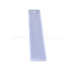 moules en silicone, moules de résine, pour la résine UV, fabrication de bijoux en résine époxy, signet, effacer, 14.4x2.9 cm(DIY-L021-14B)