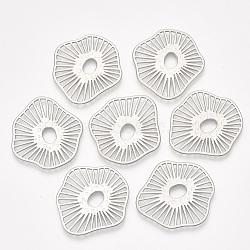 Liens de menuiserie filigrane d'alliage de surface lisse, mat platine, 35x33x1mm(X-PALLOY-T067-74MP)