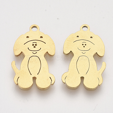 Golden Dog Stainless Steel Pendants
