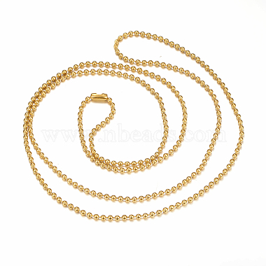304 Stainless Steel Ball Chain Necklaces Making(X-MAK-I008-01G-A02)-2