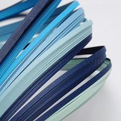 Bandes de papier quilling de 6 couleurs, bleu progressive, 390x3mm; à propos 120strips / sac, 20strips / couleur(X-DIY-J001-3mm-A05)