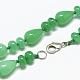 Natural Malaysia Jade Beaded Necklaces(NJEW-S389-22)-2