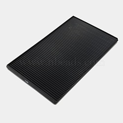 Contre les cartes de strass en plastique, noir, 17.5x11x1 cm(TOOL-P002B-02)