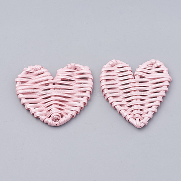 51mm Pink Heart Others Beads