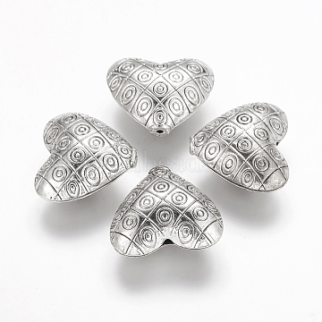 22mm Heart Alloy Beads