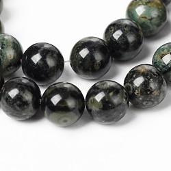 perles de kambaba naturel jasper, arrondir, 8 mm, trou: 1 mm; environ 46 perle / brin, 14.9(G-M172-8mm-01)