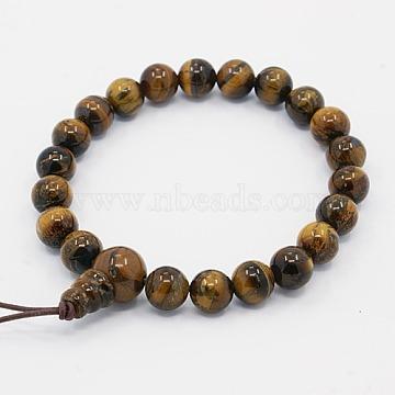 Mala Beads Charm Bracelets, Gemstone Buddha Bracelets, 2 inches(5cm)(X-BJEW-D296-04)