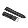 Black Leather Watch Band(WACH-F017-02D)