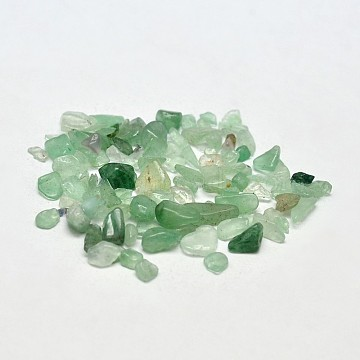 Natural Green Aventurine Chip Beads, No Hole/Undrilled, 2~8x2~4mm; about 8500pcs/500g(G-O103-02)