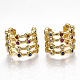 Brass Micro Pave Cubic Zirconia Clip-on Earrings(EJEW-S201-53)-1