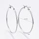 304 Stainless Steel Big Hoop Earrings(X-EJEW-F105-06P)-2