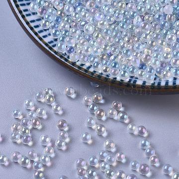 DIY 3D Nail Art Decoration Mini Glass Beads, Tiny Caviar Nail Beads, Clear AB, 2.5~3mm(X-GLAA-WH0015-27G)