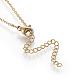 Brass Initial Pendant Necklaces(NJEW-I230-24G-W)-2