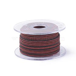 Câble de fil d'acier tressé, bricolage bijoux matériau de fabrication, avec bobine, DarkRed, 3 mm; environ 5 m/rouleau(OCOR-G005-3mm-A-02)