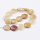 Natural Topaz Jade Beads Strands(G-P340-03-25mm)-2