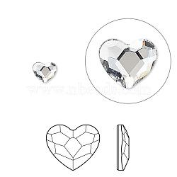 strass cristal autrichien, 2808, passions de cristal, déjouer retour, coeur à facettes, 001 _crystal, 14x12x3 mm(X-2808-14mm-001(F))