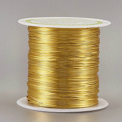 Fil de cuivre fil de perle de cuivre, Plaqué longue durée, or, 24 jauge, 0.5 mm; 23 m / rouleau(CWIR-F001-G-0.5mm)