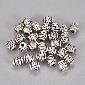6mm Barrel Alloy Beads