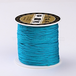 Polyester Threads Cords, DarkTurquoise, 0.72mm; about 125yards/roll(X-OCOR-E008-23)