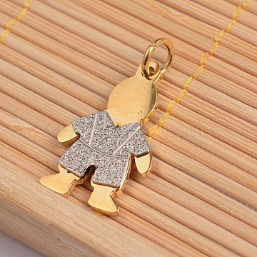 Golden & Stainless Steel Color Human Stainless Steel Pendants