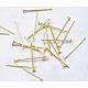 Nickel Free Golden Iron Head Pins(X-NFHPG18mm)-1