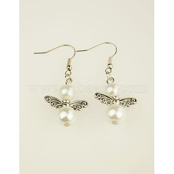 White Glass Earrings