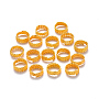Plated Iron Twisted Hair Coil Dreadlock Beads, Dread Cuff Coil, Ring, 4 Loops, Golden, 14x5mm, Hole: 11.5mm