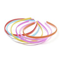 conclusions de bande de cheveux en plastique, imitation gelée, couleur mélangée, 120 mm; 8 mm(X-OHAR-Q275-02)