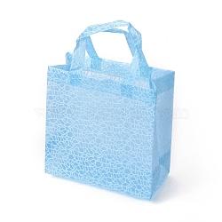 Eco-Friendly Reusable Bags, Non Woven Fabric Shopping Bags, LightSkyBlue, 25x13.2x25.8cm(ABAG-L004-O03)