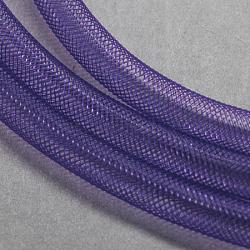 Plastic Net Thread Cord, DarkSlate Blue, 10mm, 30Yards(PNT-Q003-10mm-25)
