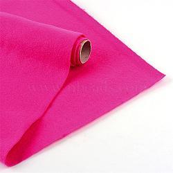 Feutre à l'aiguille de broderie de tissu non tissé pour l'artisanat de bricolage, fuchsia, 450x1.5~2 mm; environ 1 m/rouleau(DIY-R069-07)
