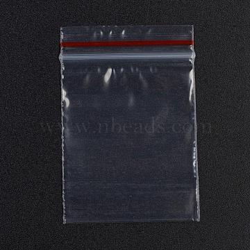 Plastic Zip Lock Bags, Resealable Packaging Bags, Top Seal, Self Seal Bag, Rectangle, Red, 6.1x4cm; Unilateral Thickness: 0.035mm; Inner Measure: 3.9x5cm, 100pcs/bag(OPP-G001-A-4x6cm)