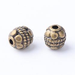 Séparateurs perles en alliage de style tibétain, ovale, Sans cadmium & sans nickel & sans plomb, bronze antique, 5~5.5x6mm, trou: 1 mm; environ 38 pcs / 20 g(Y-TIBE-Q063-43AB-NR)