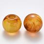 Sandy Brown Rondelle Acrylic Beads(OACR-R074-04C)
