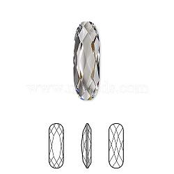 strass cristal autrichien, 4161, passions de cristal, déjouer retour, facettes longue pierre de fantaisie ovale classique, 001 _crystal, 15x5x2 mm(X-4161-15x5mm-001(F))
