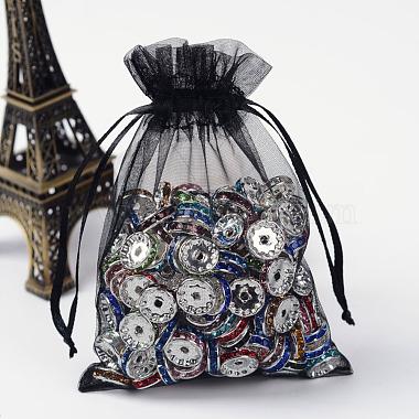 Black Rectangle Organza Bags