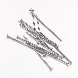 Épingles de tête en fer, gunmetal, Taille: environ 3.0 cm de long, épaisseur de 0.7mm(X-HPB3.0cm)