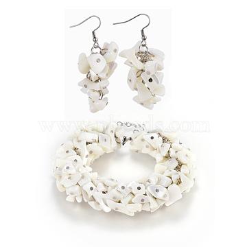 Beige Shell Bracelets & Earrings
