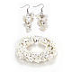 Natural Spiral Shell Beads Jewelry Sets(SJEW-JS01010)-1