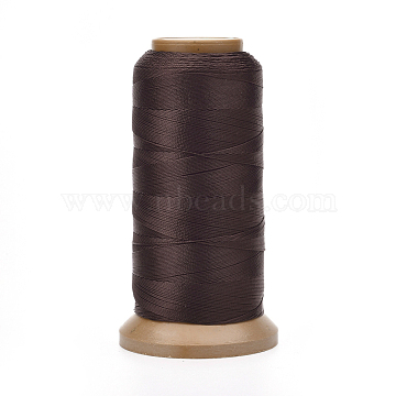 Polyester Threads, for Jewelry Making, Coffee, 1mm, about 284.33 yards(260m)/roll(NWIR-G018-F-16)