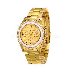 Из нержавеющей стали кварцевые твист часы Высокое качество женские, со стразами, золотые, 70 мм; головка часы: 46x42x11 мм(WACH-N027-06G)