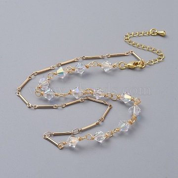 Clear AB Brass Necklaces