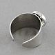Platinum Brass Snap Cuff Rings(X-KK-S087)-2